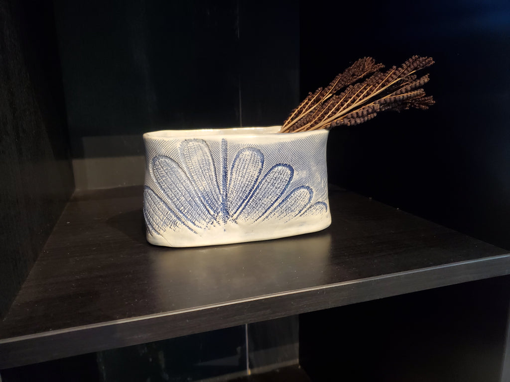 JRN - Blue Flower Vessel