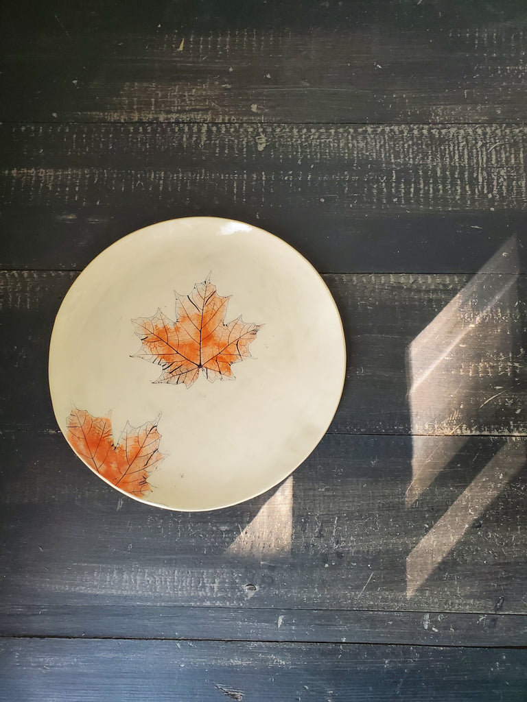 JRN - Autumn Maple Leaf Platter