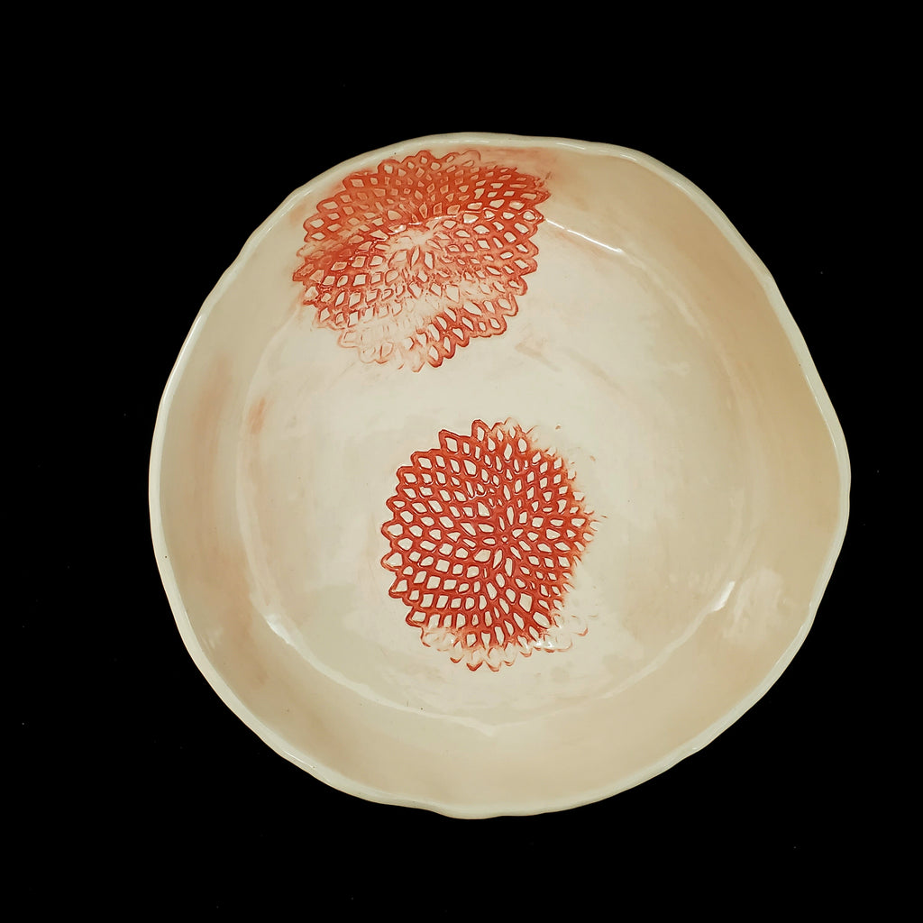 JRN - Orange Flower Fade Bowl