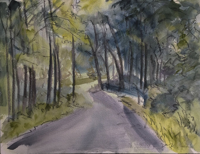 Michael Gallagher #P22: Wooded path, Stanfordville, September 16th 2018