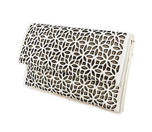 White Leaf Cut Out Clutch