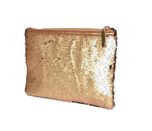 Gold Sequin Pouch