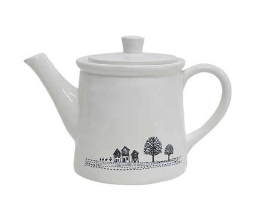 Engraved Country Teapot