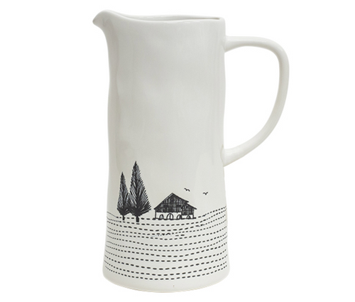 Engraved Country Jug
