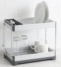 Collapsible Two Tier Dish Rack