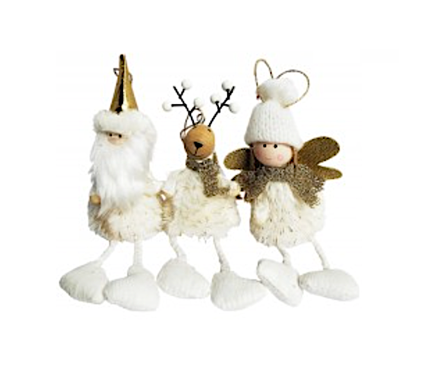 Reindeer, Santa Or Angel Ornament