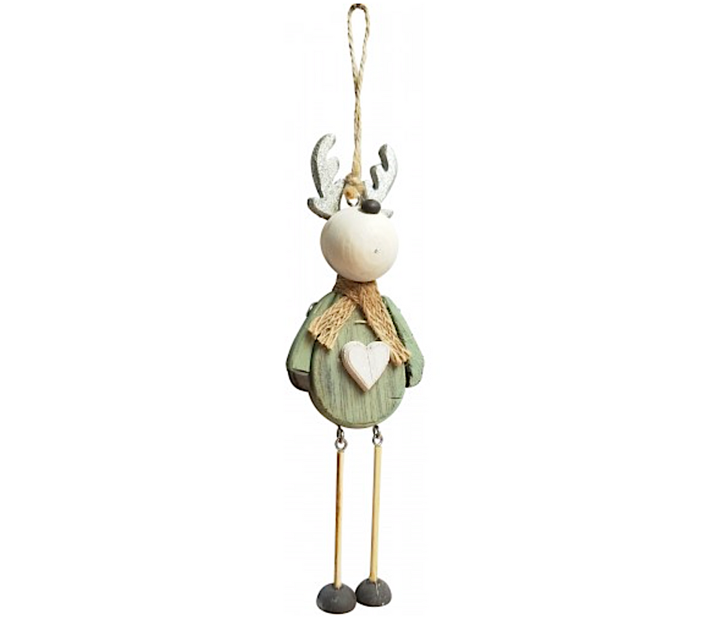 Sage Reindeer Ornament
