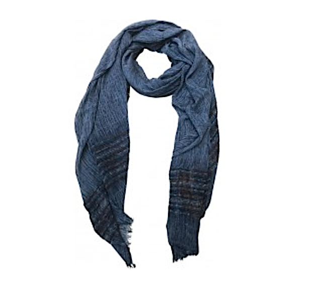 Capri Stripe Denim Scarf