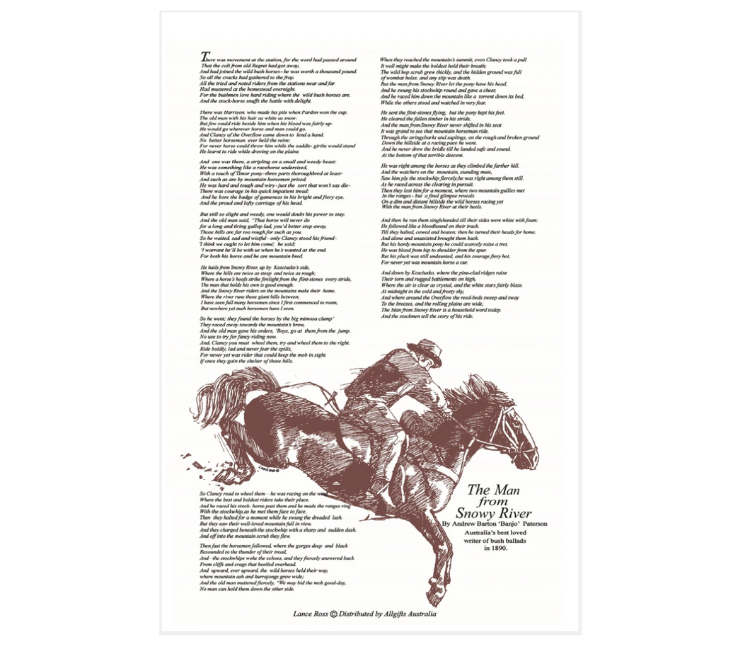 Man From Snowy River Tea Towel