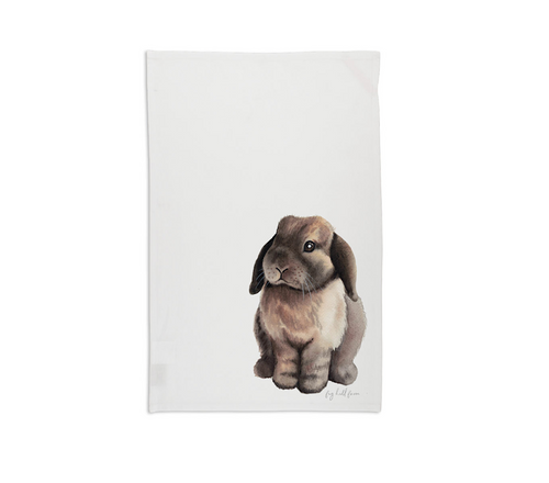 Farm Bunny Tea Towel