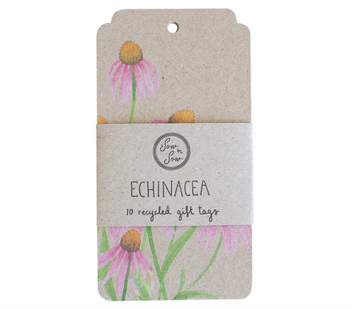 10pk Echinacea Gift Tags