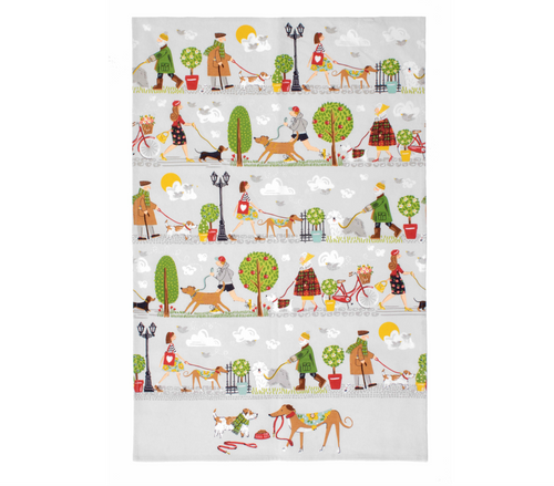 Walkies Tea Towel
