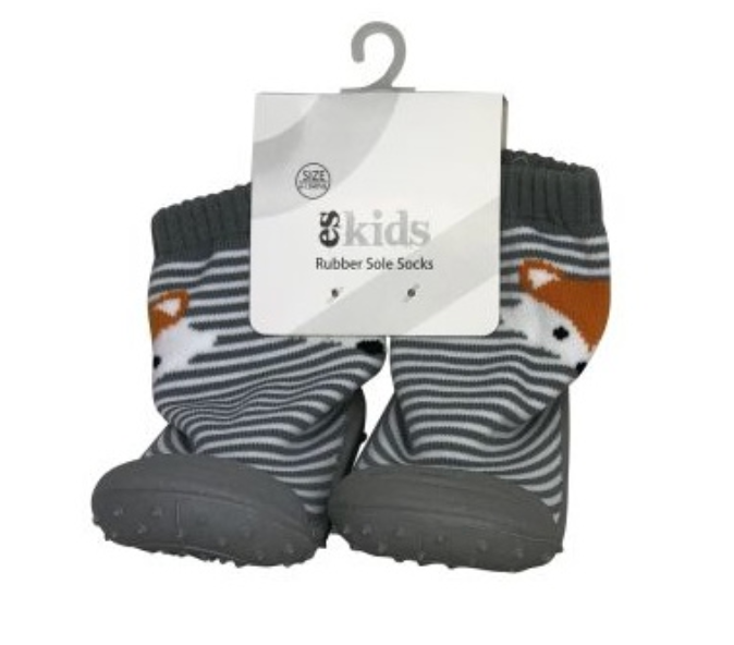 Grey Fox Rubber Soled Socks