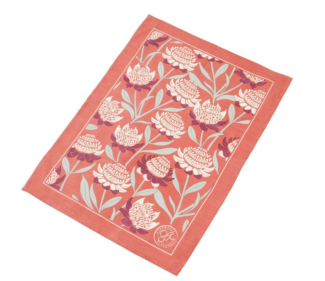 Waratah Tea Towel