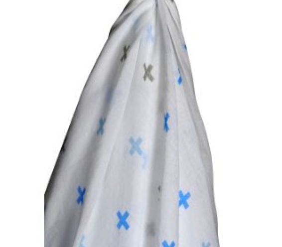 Blue Cross Muslin Wrap