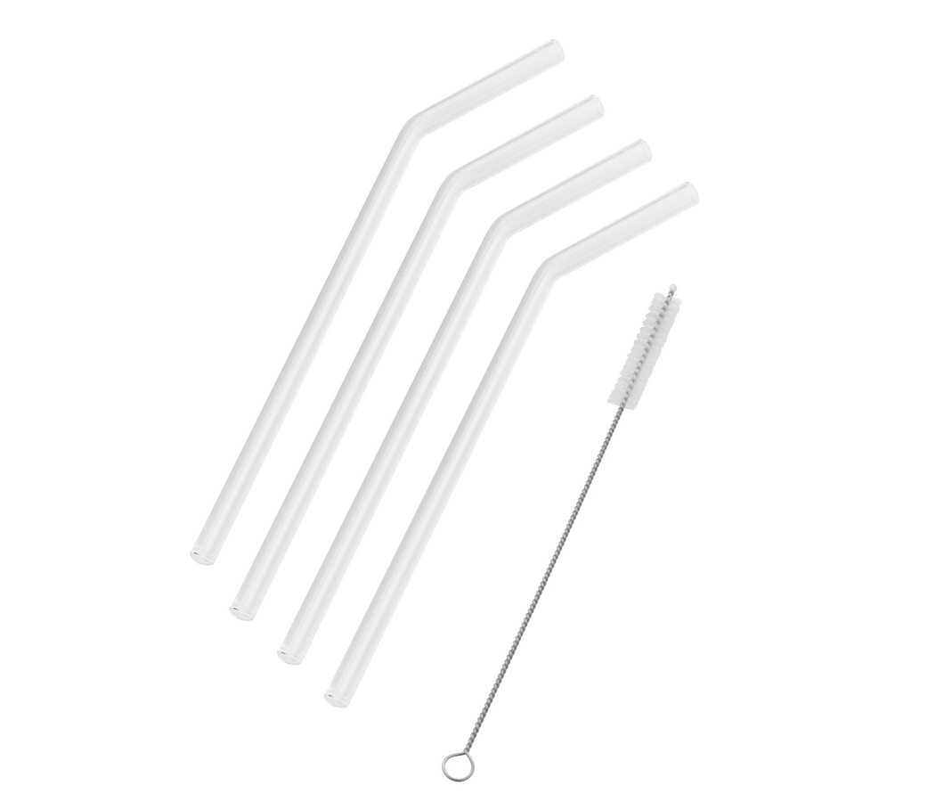 Set 4 Glass Straws