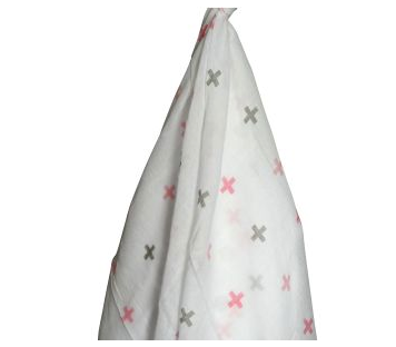 Pink Cross Muslin Wrap
