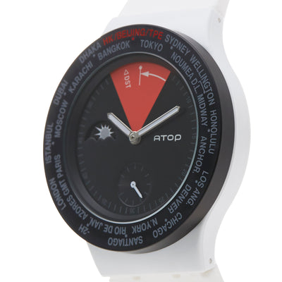 ATOP WORLD TIME WATCH WHITE RED - Gifted Products