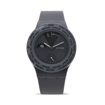 ATOP WORLD TIME WATCH GRAY - Gifted Products