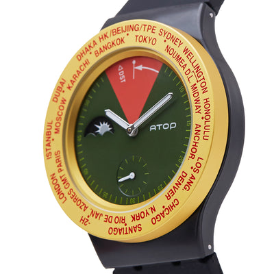 ATOP WORLD TIME WATCH RASTA - Gifted Products