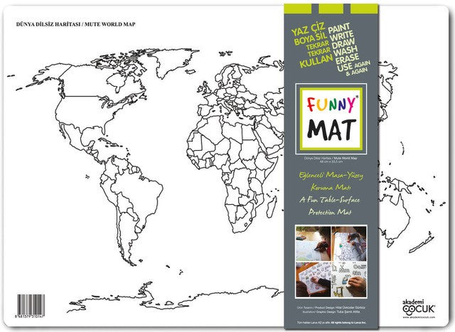 FUNNY MAT - MUTE WORLD MAP - Gifted Products