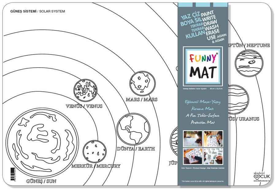 FUNNY MAT - SOLAR SYSTEM - Gifted Products