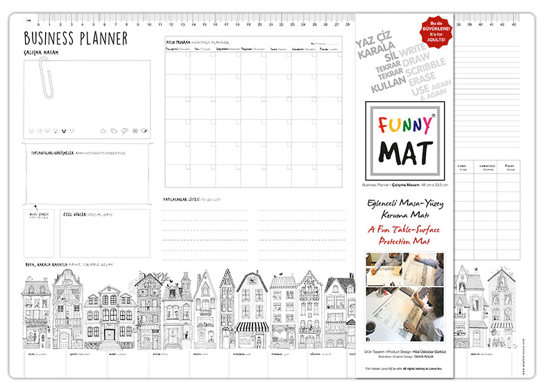 FUNNY MAT - BUSINESS PLANNER - Gifted Products