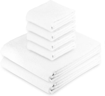 Exclusive 5 Star Hotel Turkish Cotton White Towel Set - (2 Bath Towels 4 Hand Towels) - Gifted Products