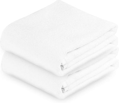 Exclusive 5 Star Hotel Turkish Cotton White Towel Set - (2 Hand Towels) - Gifted Products