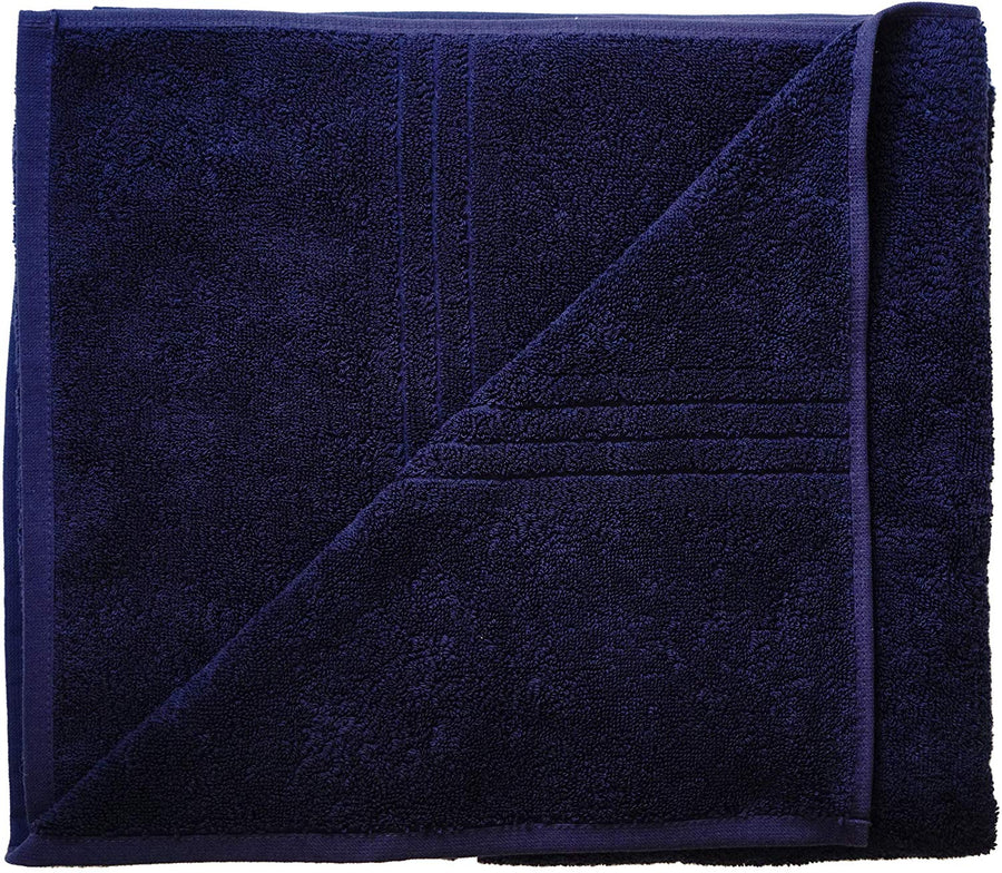 Exclusive 5 Star Hotel Turkish Cotton Navy Towel Set - (2 Bath Towels 2 Hand Towels) - Gifted Products
