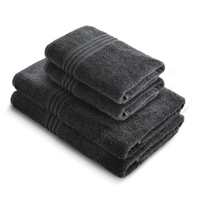 Exclusive 5 Star Hotel Turkish Cotton Grey Towel Set - (2 Bath Towels 2 Hand Towels) - Gifted Products
