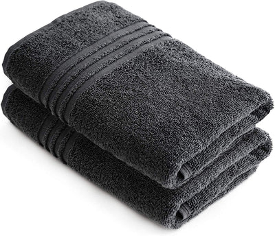 Exclusive 5 Star Hotel Turkish Cotton Grey Towel Set - (2 Hand Towels) - Gifted Products