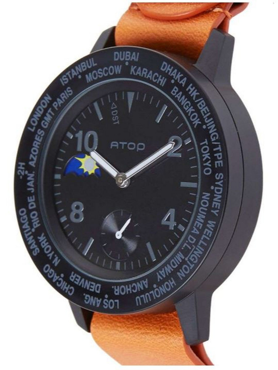 ATOP WORLD TIME WATCH AWA LEATHER SERIES AWA-11-L06 - Gifted Products