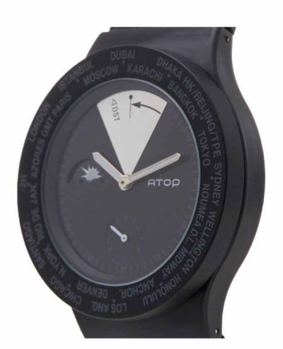 ATOP WORLD TIME WATCH BLACK VWA-11 - Gifted Products