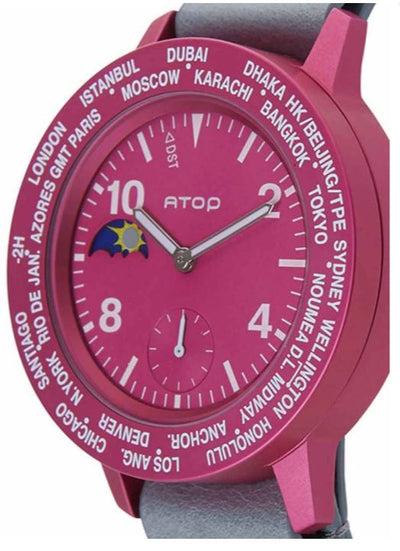 ATOP WORLD TIME WATCH AWA LEATHER SERIES AWA-14-L04 - Gifted Products