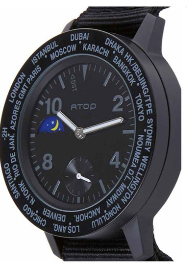 ATOP WORLD TIME WATCH BLACK AWA-11-C0102 - Gifted Products