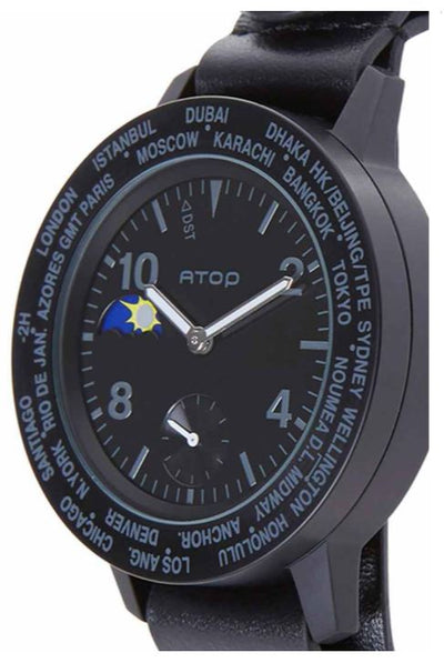ATOP WORLD TIME WATCH AWA LEATHER SERIES AWA-11-L01 - Gifted Products