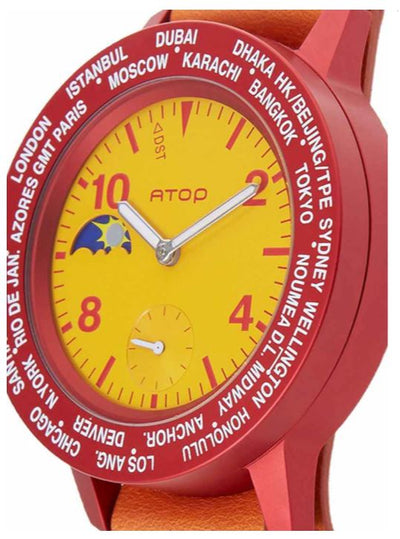 ATOP WORLD TIME WATCH AWA LEATHER SERIES AWA-Spain-L06 - Gifted Products