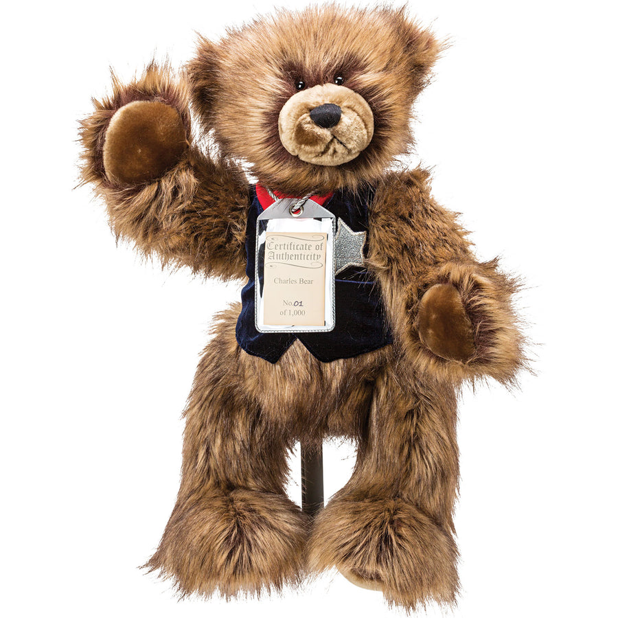 Silver Tag Bear Charles | Limited edition collectible Silver Tag Bear by Suki - Gifted Products