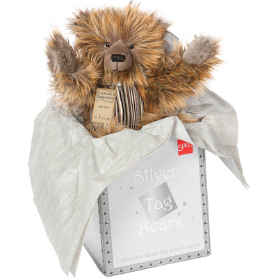 Silver Tag Bear Jake | Limited edition collectible Silver Tag Bear by Suki - Gifted Products