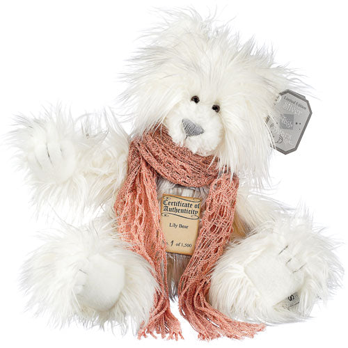 Silver Tag Bear Lily | Limited edition collectible Silver Tag Bear by Suki - Gifted Products