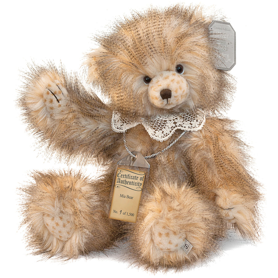 Silver Tag Bear Mia | Limited edition collectible Silver Tag Bear by Suki - Gifted Products