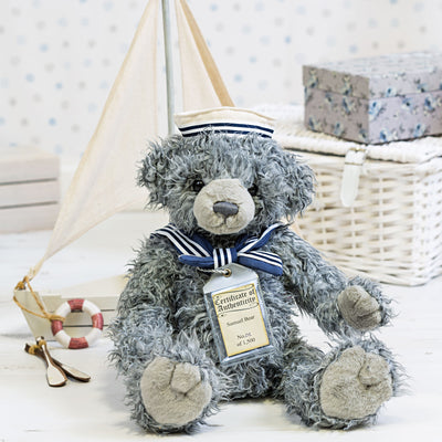 Silver Tag Bear Samuel | Limited edition collectible Silver Tag Bear by Suki - Gifted Products