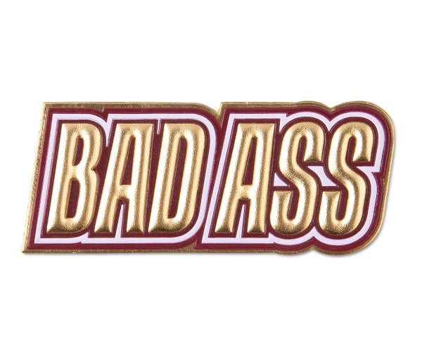 ICON STICKER BADASS GOLD - Gifted Products