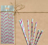 Paper Straw - White Heart - Gifted Products