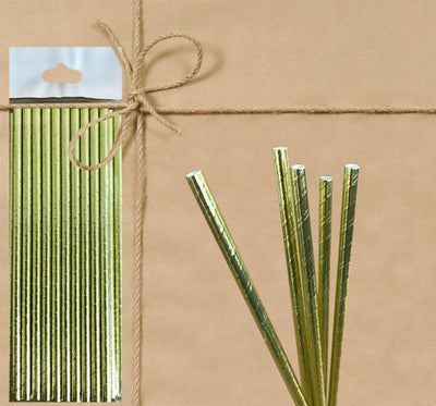 Paper Straw - Metallic - Gifted Products