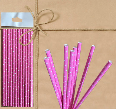 Paper Straw - Pastel Polka Dot - Gifted Products