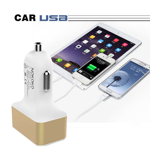 High Quality USB Car Charger Universal Portable 4 Ports Car-charger Travel Charge Adapter For GPS iphone Smartphone Chargering
