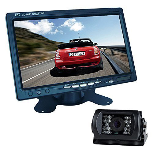 7 inch TFT LCD Monitor+18 LED Reversing CCD Camera Car Reversing camera