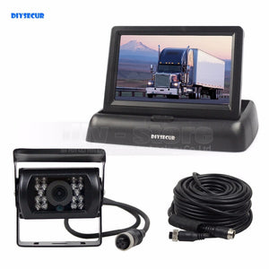 12V-24V 4PIN 4.3inch Reverse Rear View Car Monitor Waterproof CCD Night Vision